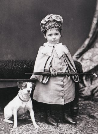 Little girl with her Jack Russell friend