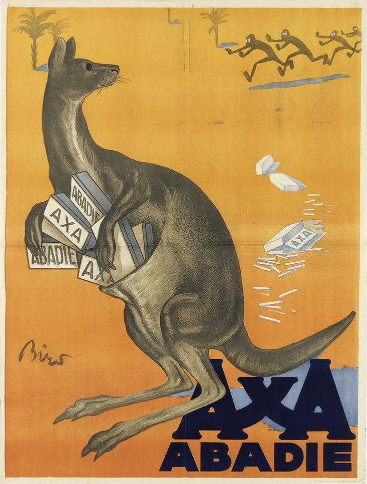 MIHALY BIRO (1886-1948) AXA / ABADIE. 1924. 49 1/2x37 1/2 inches, 125 3/4x95 1/4 cm.
