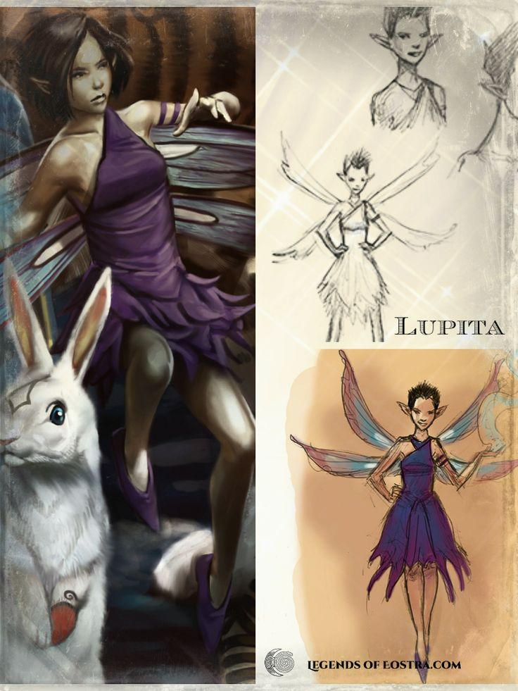 Lupita (Lupi), the agramond- how her character drawing developed.  #motherearth #fantasy #auslit #easter #vernalequinox #YABook