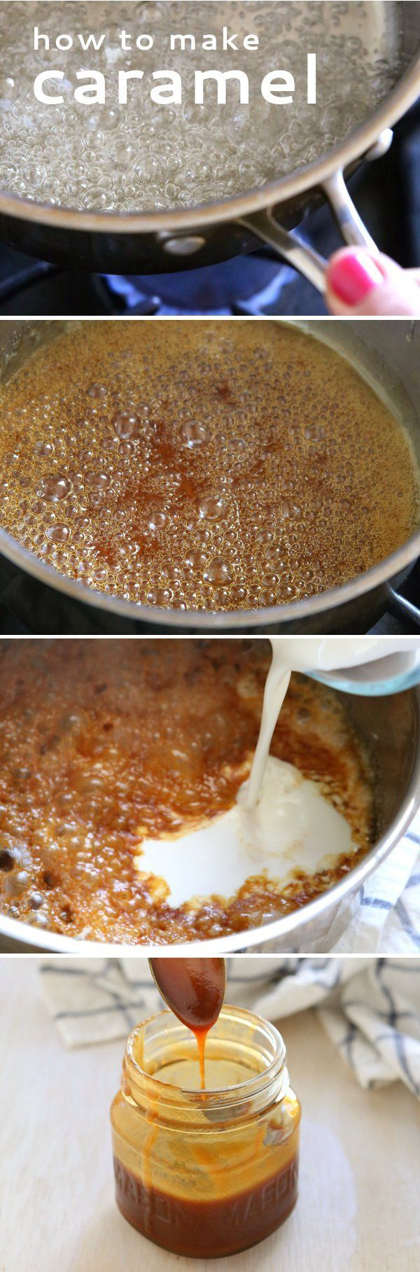 How to Make Caramel, Two Ways ~ If you think that the caramel is tricky or difficult, I will convince you that it is not.