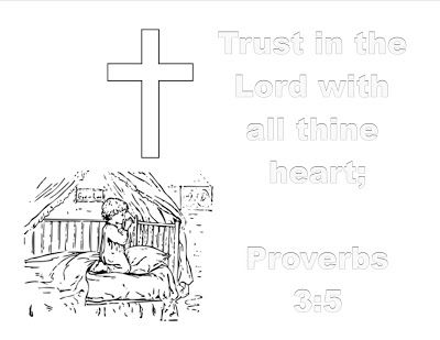 1000 images about vbs for babies and toddlers on for Trust god coloring page