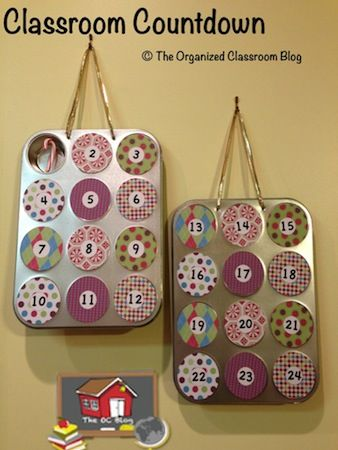 Classroom DIY: DIY Countdown Calendar  http://www.classroomdiy.com/2012/12/diy-countdown-calendar.html