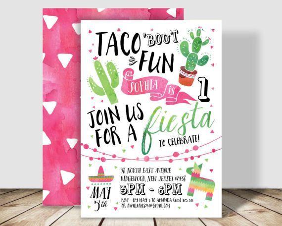 Taco Bout Fun Fiesta Birthday Party Invitation