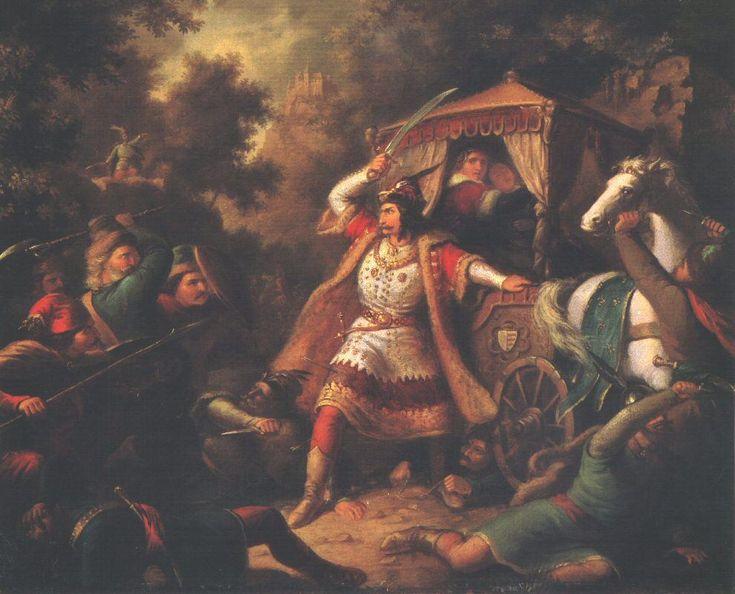 Gara nádor megvédi Mária és Erzsébet királynőket 1855 körül.jpg (990×800)