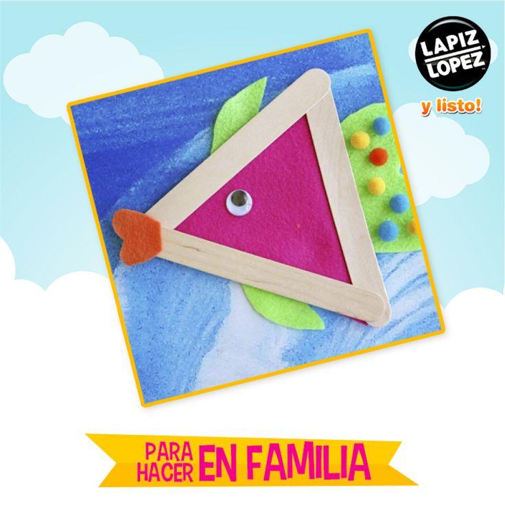 ¿Un lindo pez? ¡Es fácil y entretenido de hacer!