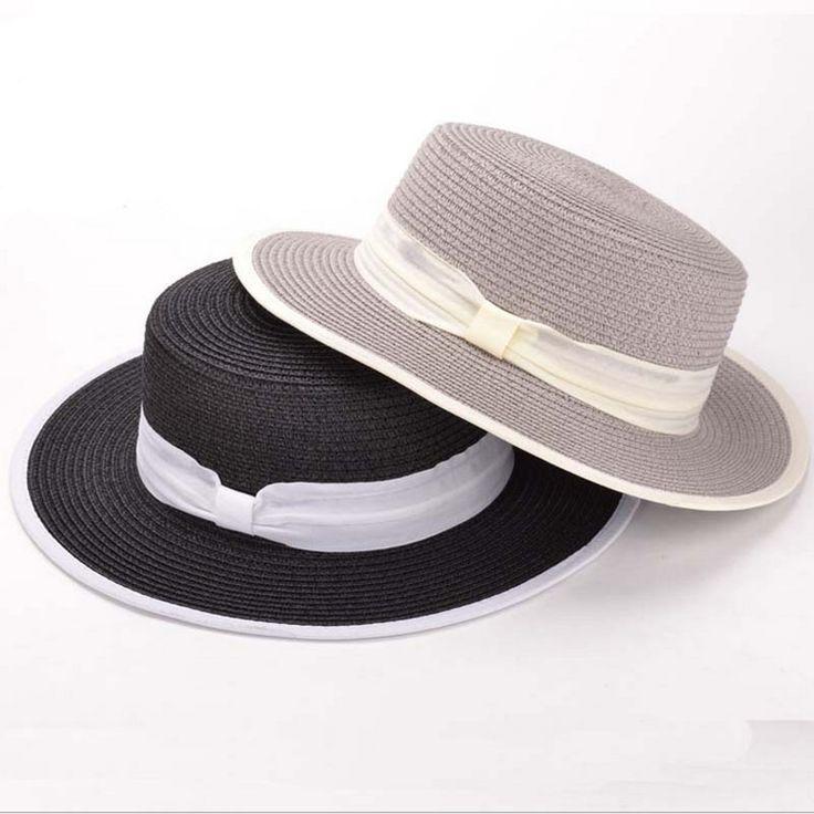 Nueva Moda Plana sombrero para el Sol Sombrero arco Verano de Las Mujeres Sombreros de Paja Para Las Mujeres Beach Headwear 7 Colores chapeau femme Regalo en Sombreros de Sun de Ropa y Accesorios de las mujeres en AliExpress.com | Alibaba Group