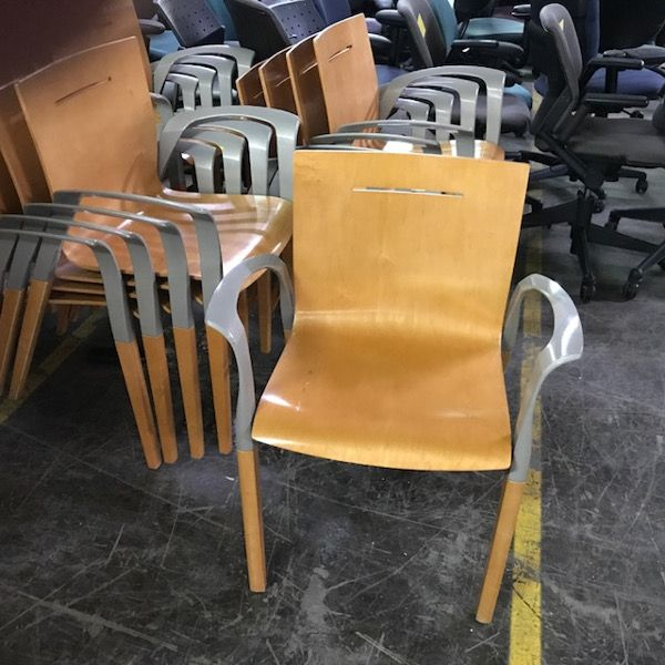 Steelcase Stacking Wood Cafeteria Chairs | Office Furniture Warehouse $89