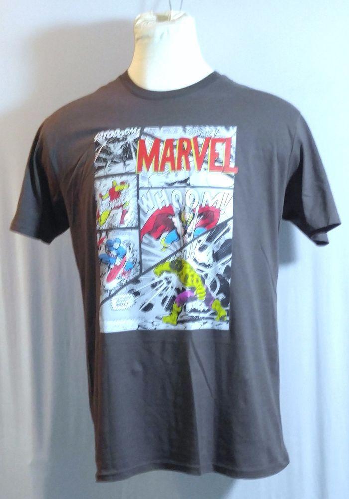 Marvel Superheros Comic Strip X-Large T-Shirt Hulk,Iron Man,Thor,Capt America #Unbranded #GraphicTee
