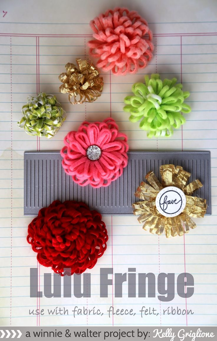 So many flower possibilities with Lulu Fringe!: