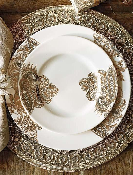 Add glamour to your next dinner party with the Caskata Bohemian Paisley Dinnerware that's sure to leave a lasting impression on your guests.