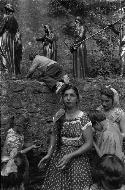 Josef Koudelka FRANCE. Lourdes. 1970. Gypsies.