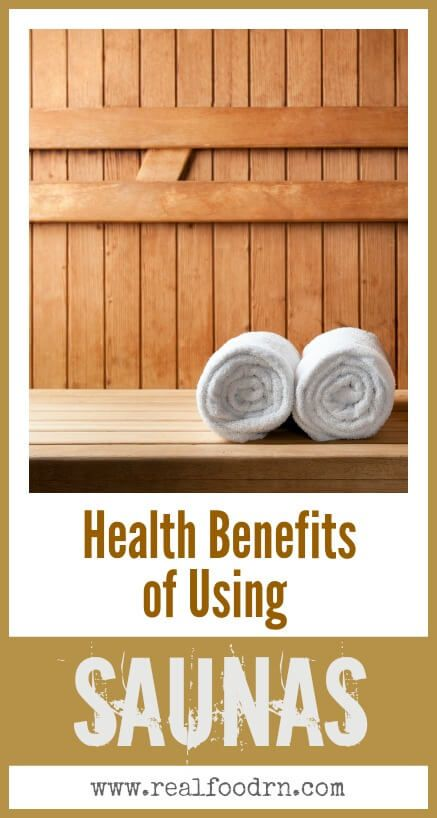 Health Benefits of Using Infared Saunas. Why saunas can be a great addition to your health routine! realfoodrn.com #saunas #infaredsauna