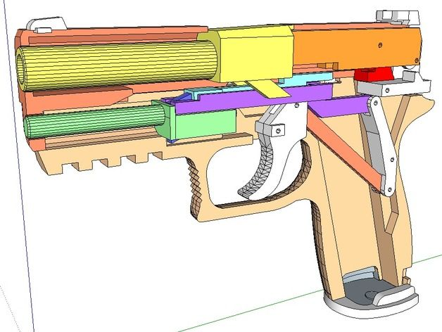 how to build a rubber band gun 5 shots