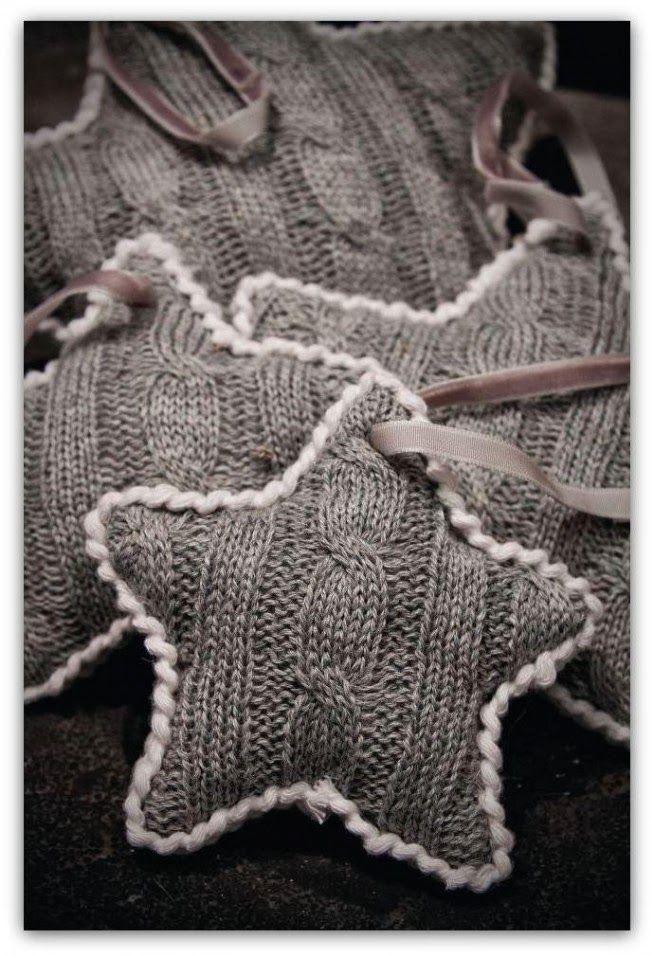 Relasé: Come fare le stelle a maglia? - decorazioni natali...