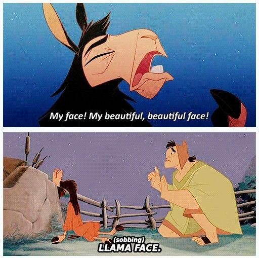 Llama face! ~ The Emporer's New Groove ~ Favorite Disney movie...always cracks me up!
