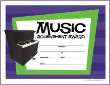 Free Printable General Music Award Certificates - http://makingmusicfun.net/htm/printit_award.htm