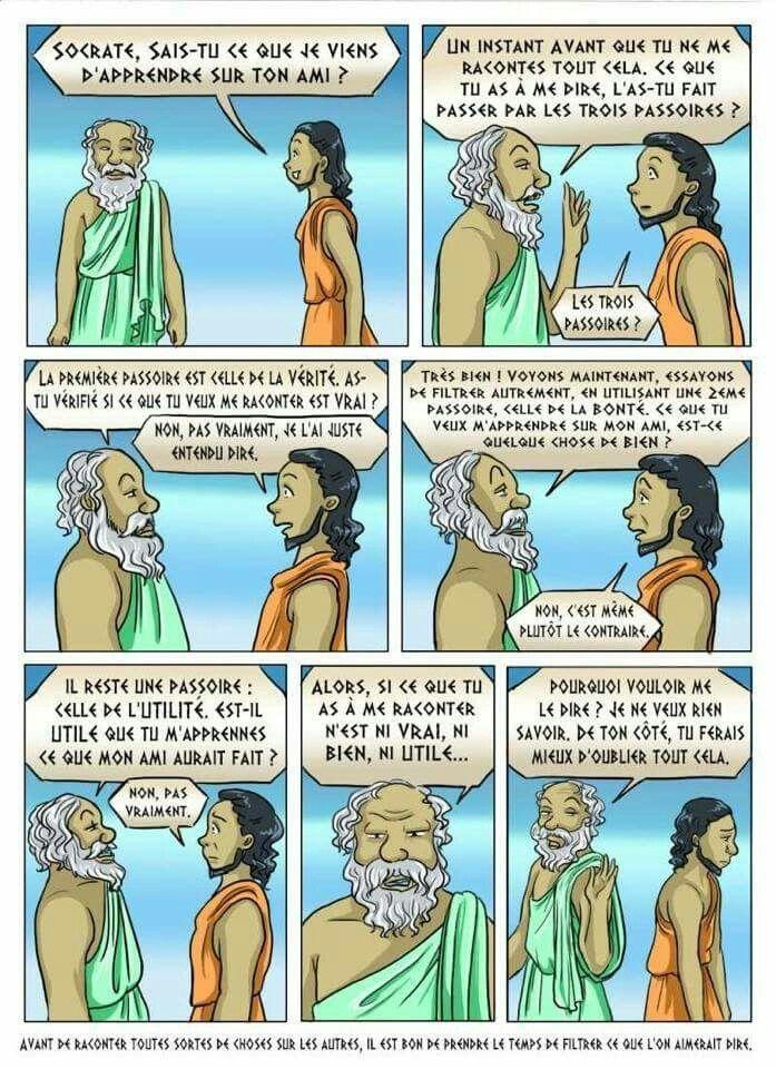 Les trois passoires de Socrate