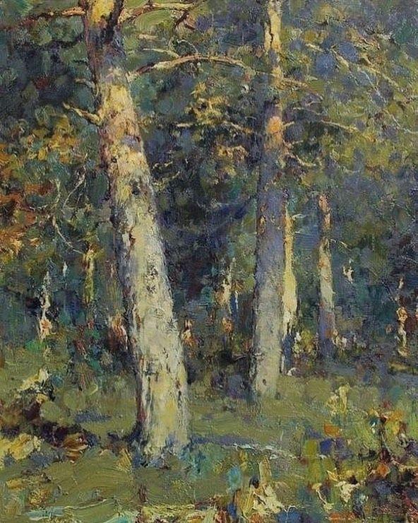 Debora L V Instagram Yuri Vasentin Russian Artist Title Pines On The Meadow In 2020 Oil Painting Nature Landscape Art Landscape Paintings