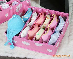 F199 woman must incorporate high seven home grid clouds bra underwear storage box storage box-$1.25