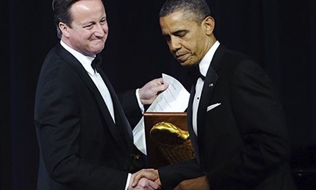 Cameron and Obama, south lawn, White House--------------- This transatlantic trade deal is a full-frontal assault on democracy George Monbiot