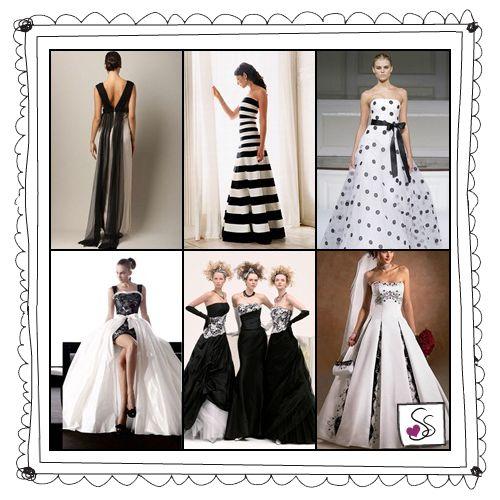 Con il bianco e il nero il matrimonio si fa chic: eleganza e romanticismo dall'abito da sposa alla torta nuziale vestito sposa bianco e nero – sette spose