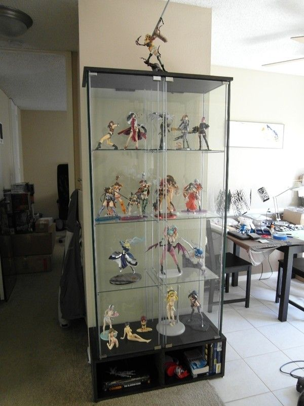 Quot Dual Modded Detolf Case Quot Geek Culture Pinterest Display Display Cabinets Ikea And Ikea