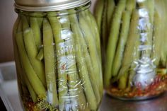 Spicy Pickled Green or Yellow Beans