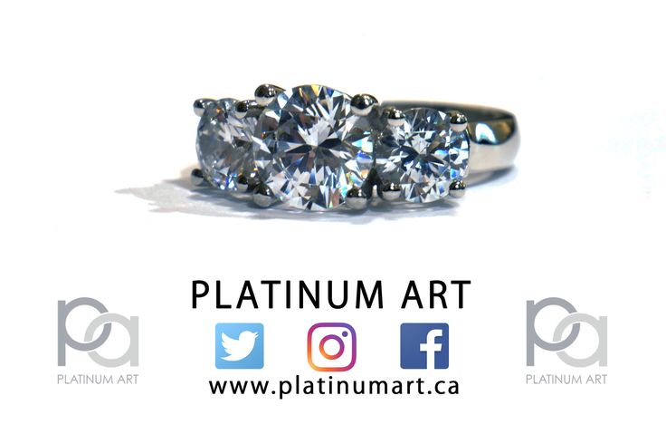 Tis the season of sparkle, lets celebrate the start of the week with a beautiful three stone piece. Available in store by appointment.  1-844-787-7348  http://www.platinumart.ca   #PlatinumArt #jewelry #canadian #Canada #engagement #weddings #holiday #shopping #rings #fashion #style #love #art #gifts #beauty