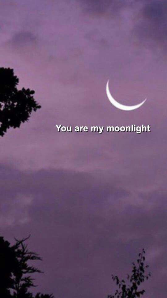 You are my moonlight Quote aesthetic, Wallpaper quotes