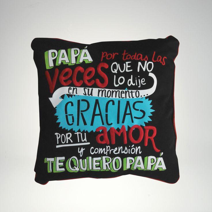 Día del Padre: Cojin Patch #diadelpadre #fathersday