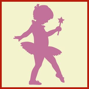 Little ballerina, ballerina art, wall stencils, decorate a child's room, DIY