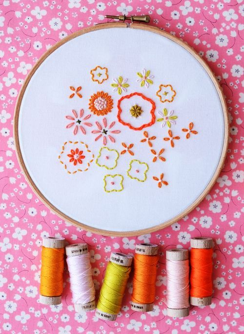 Springtime Embroidery by Aneela of Comfort Stitching