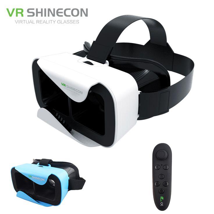 3D Headset Original VR Shinecon 3.0 Cardboard 360 Virtual Reality Glasses Head Mount vrbox Helmet for 4.5-6' Mobile Phone