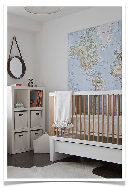 ...Ideas, Nurseries, Kids Room,  Cot, World Maps, Baby Room, Cribs, Baby Boy, Boys Room