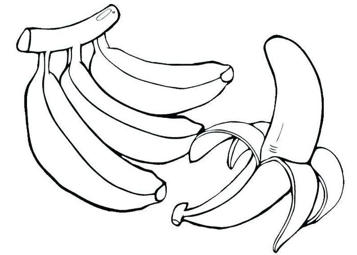 Banana Coloring Pages In 2020 With Images Pumpkin Coloring