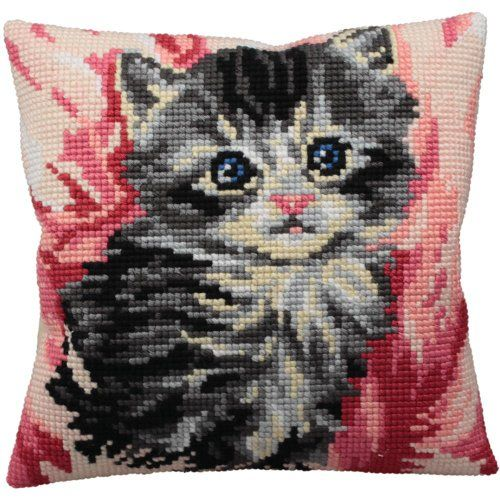 Collection D'art Mistigri Pillow Cross Stitch Kit 15 3/4'X15 3/4' Collection D'art,http://www.amazon.com/dp/B009B71TDU/ref=cm_sw_r_pi_dp_V.tIsb049T44PR7Q
