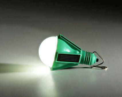 Solar powered lamps that eliminate the need for kerosene.