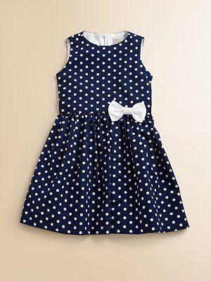 Lotusgrace Toddler's & Little Girl's Polka Dot Party Dress