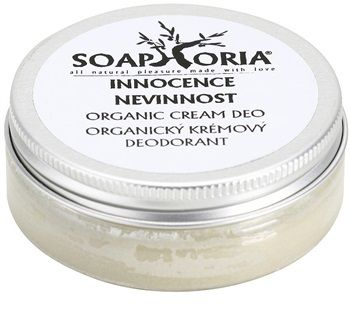 Soaphoria Innocence crema deo organica - Lilies of the valley, White Lilies and Green Tea. Light, delicatelly floral and fresh fragrance underlines femininity and unadulterated sensuality