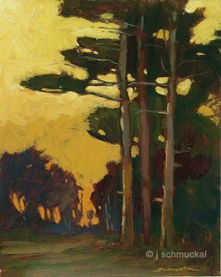 Mission Arts and Crafts CRAFTSMAN Pine Sunset  Matted by gallery28, $32.00