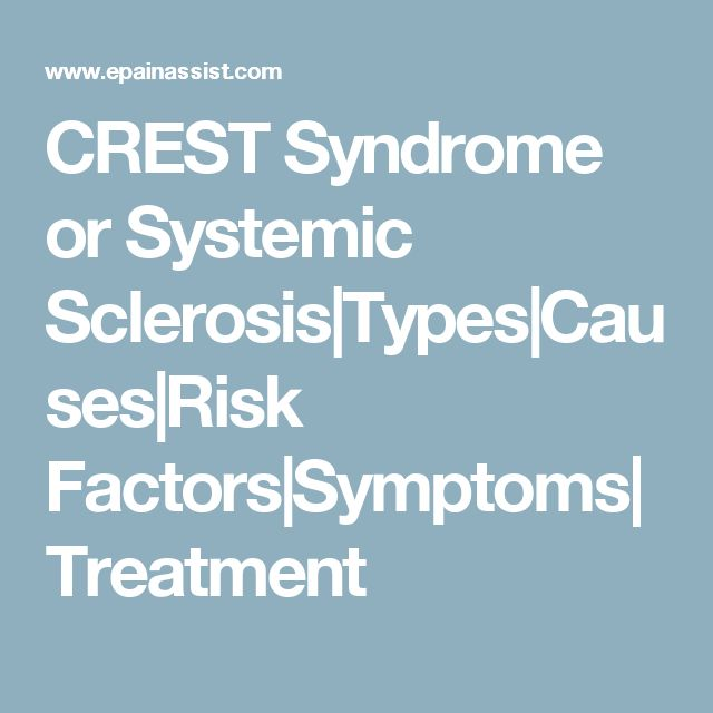 CREST Syndrome or Systemic Sclerosis|Types|Causes|Risk Factors|Symptoms|Treatment