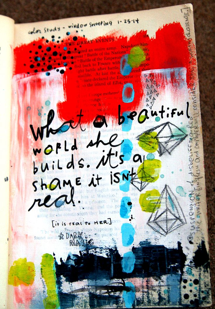In My Art Journal - Week of January 26 — *Messy Canvas