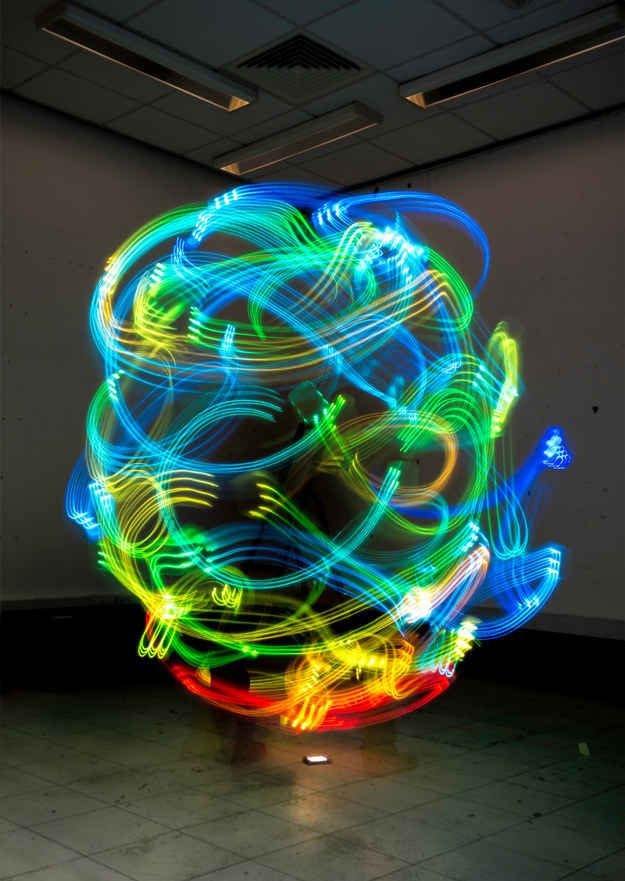 "Hernan's work, "" The Secret Body of Wireless ,"" was exhibited at the Newcastle University. 