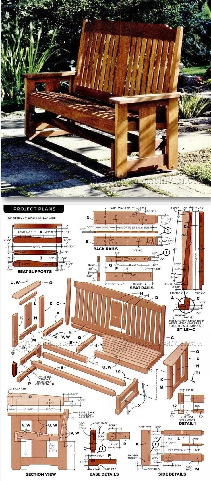 porch glider plans outdoor furniture plans u0026 projects - Porch Gliders