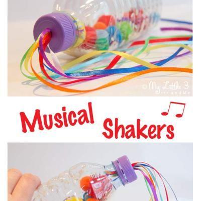 Sensory Play - Rainbow Bottles/Music Shakers