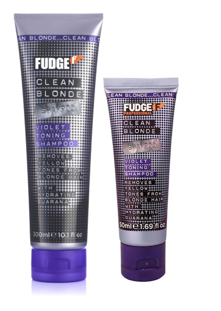 Coloured blonde hair can occasionally take on an unwanted yellow, brassy tone. Violet Toning Shampoo balances out the yellow tones from the hair, and leaves hair hydrated and replenished. Fudge Clean Blonde Violet Toning Shampoo. | eBay!