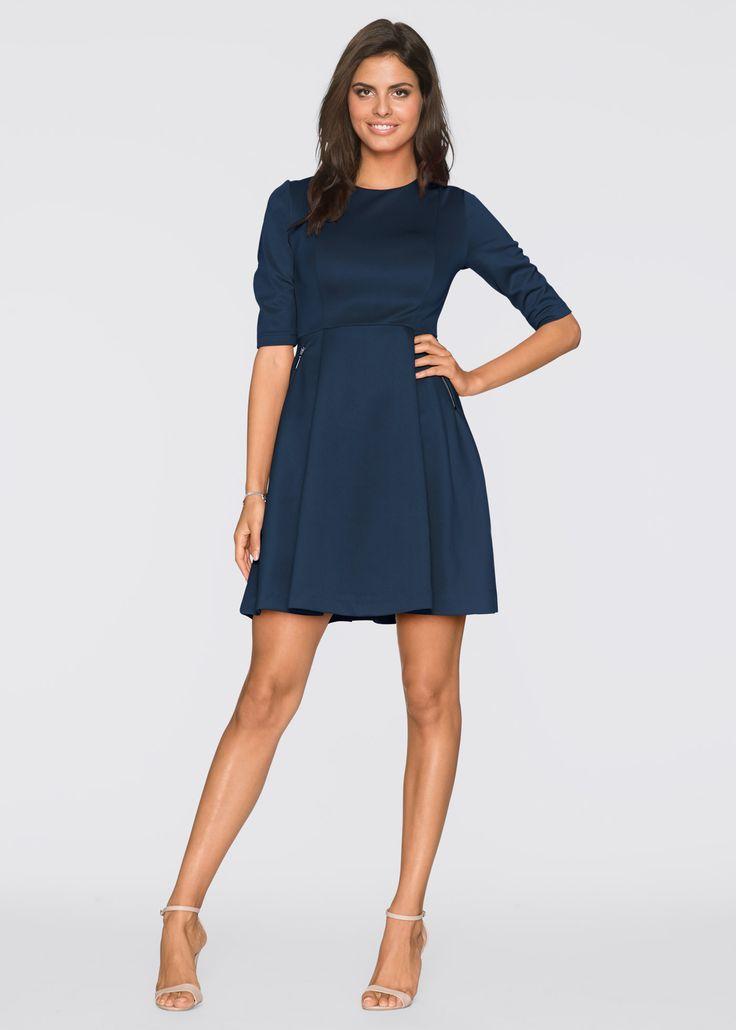 Scuba-Kleid dunkelblau - BODYFLIRT jetzt im Online Shop von bonprix.de ab ? 29,99 bestellen. Verspieltes Scuba-Kleid der Marke BODYFLIRT mit ausgestelltem ...