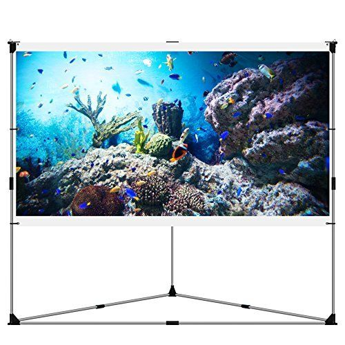Elite Screens Tripod, 99-inch, Adjustable Multi Aspect Ratio Portable Pull Up Projection Projector Screen, T99NWS1