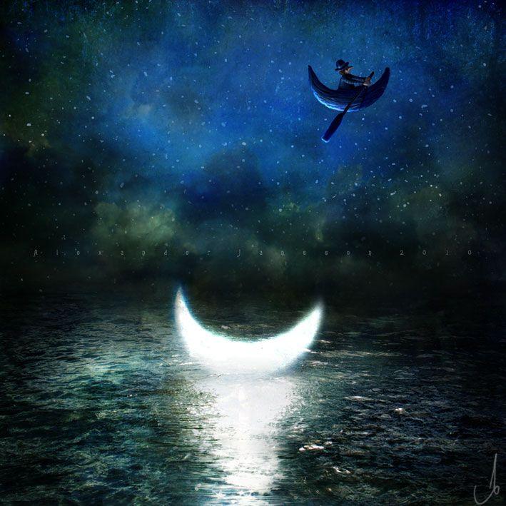 moon illustrated by alexander jannson