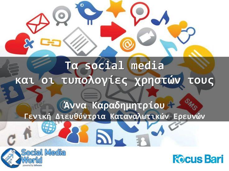 Social Media World 2013 - Καραδημητρίου Άννα: Τα Social Media και οι τυπολογίες χρηστών τους